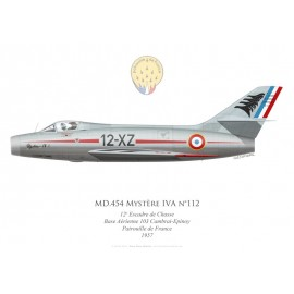 Mystère IVA n°112, Patrouille de France 1957, 12e Escadre de Chasse, French air force, Cambrai-Epinoy airbase