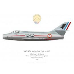 MD.454 Mystère IVA n°112, 12e Escadre de Chasse, Base Aérienne 103 Cambrai-Epinoy, Patrouille de France 1957