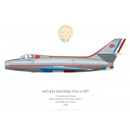 Mystère IVA n°297, Patrouille de France 1963, 7e Escadre de Chasse, Base Aérienne 133 Nancy-Ochey