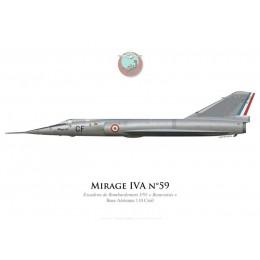 "Mirage IVA, Escadron de Bombardement 3/91 ""Beauvaisis"", BA 110 Creil"