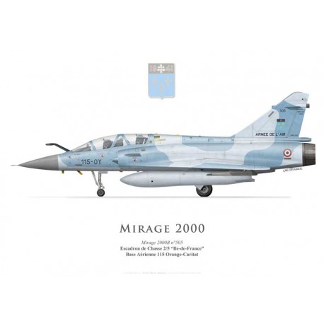 "Mirage 2000B, EC 2/5 ""Ile de France"", BA 115 Orange-Caritat"