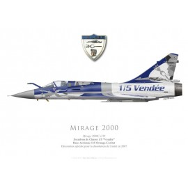 "Mirage 2000C, EC 2/5 ""Vendée"", Unit deactivation special colours, 2007"