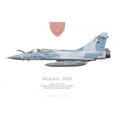 """Mirage 2000C n°40, EC 3/5 """"Comtat-Venaissin"""", BA 115 Orange-Caritat"""