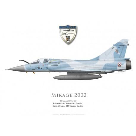 """Mirage 2000C No 88, EC 1/5 """"Vendée"""", BA 115 Orange-Caritat"""