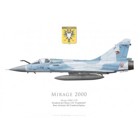 """Mirage 2000C, EC 1/12 """"Cambrésis"""", BA 103 Cambrai-Epinoy"""