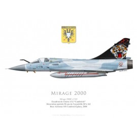 "Mirage 2000C, Escadron de Chasse 1/12 ""Cambrésis"", 90th anniversary of Escadrille SPA 162, 2008"