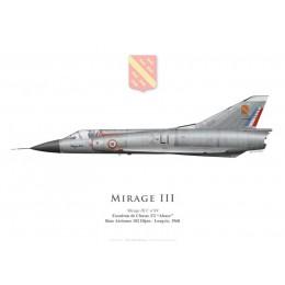 """Mirage IIIC, Escadron de Chasse 3/2 """"Alsace"""", Base Aérienne 102 Dijon-Longvic, 1968"""