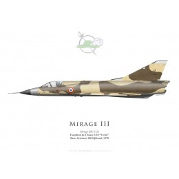 "Mirage IIIC, Escadron de Chasse 3/10 ""Vexin"", French Air Force, Djibouti AFB, Chad"