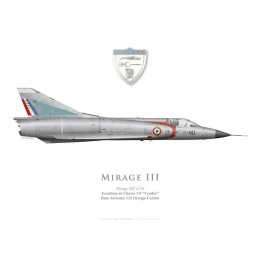 """Mirage IIIC, Escadron de Chasse 1/5 """"Vendée"""", Base Aérienne 115 Orange-Caritat"""