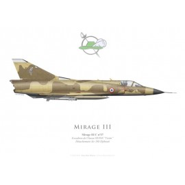"Mirage IIIC, Escadron de Chasse 3/10 ""Vexin"", Détachement Air 188 Djibouti, French Air Force"