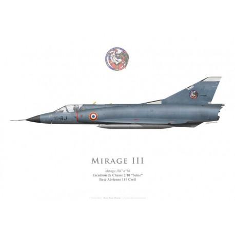 "Mirage IIIC, Escadron de Chasse 2/10 ""Seine""', Base Aérienne 110 Creil"