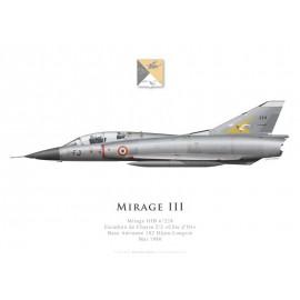 "Mirage IIIB n°224, Escadron de Chasse 2/2 ""Côte d'Or"", Base Aérienne 102 Dijon-Longvic, mai 1980"