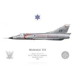 "Mirage IIICJ n°29, No 117 ""First Jet"" Squadron, Israeli Air Force, 1963"
