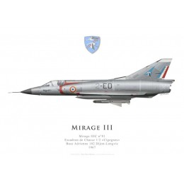 "Mirage IIIC n°91, Escadron de Chasse 1/2 ""Cigognes"", French Air Force, Dijon-Longvic Air Force Base, 1967"