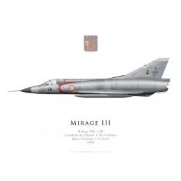 "Mirage IIIC n°85, Escadron de Chasse 1/10 ""Valois"", Base Aérienne 110 Creil, 1976"