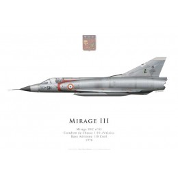"Mirage IIIC n°85, Escadron de Chasse 1/10 ""Valois"", French Air Force, Creil Air Force Base, 1976"