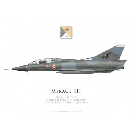 Mirage IIIB No 212, Escadron de Chasse 2/2 «Côte d'Or», French air force, Dijon-Longvic airbase, 1985