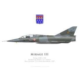 Mirage IIIBE No 268, Escadron de Chasse 1/13 «Artois», French air force, Colmar-Meyenheim airbase, 1989