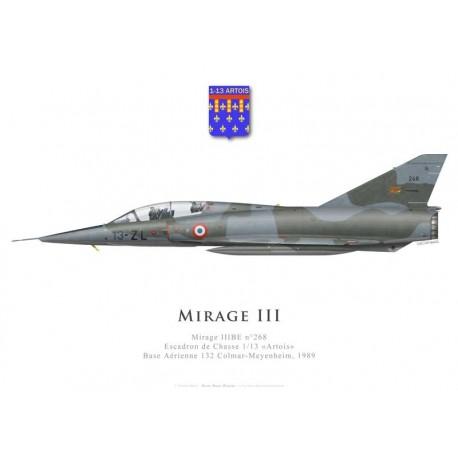 Mirage IIIBE n°268, Escadron de Chasse 1/13 «Artois», Base Aérienne 132 Colmar-Meyenheim, 1989