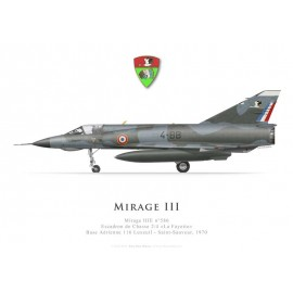 Mirage IIIE No 586, Escadron de Chasse 2/4 «La Fayette», French air force, Luxeuil airbase, 1970