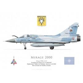 """Mirage 2000C n°118, EC 1/12 """"Cambrésis"""", Baltic Air Policing, Lituanie, 2010"""