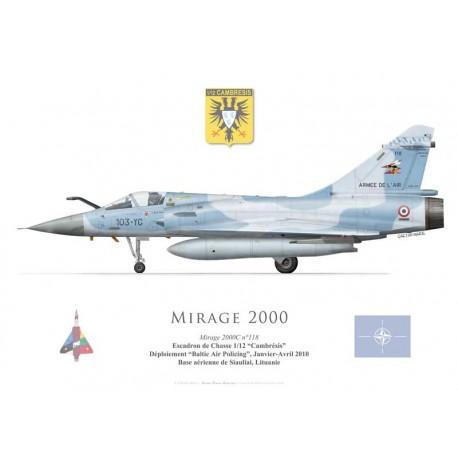 """Mirage 2000C No 118, EC 1/12 """"Cambrésis"""", Baltic Air Policing, Lithuania, 2010"""