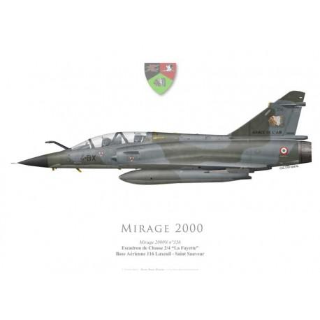 """Mirage 2000N, EC 2/4 """"La Fayette"""", BA 116 Luxeuil-Saint-Sauveur"""