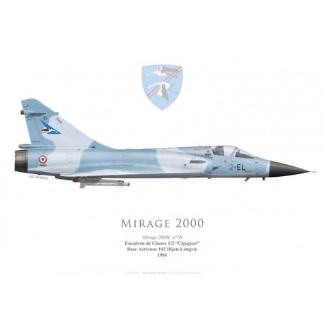"Mirage 2000C No 10, EC 1/2 ""Cigognes"", BA 102 Dijon-Longvic, 1984"