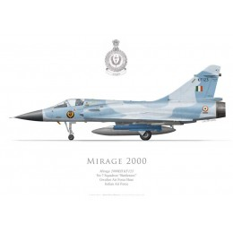 "Mirage 2000EH, No 7 Squadron ""Battleaxes"", Gwalior AFB, Indian Air Force"
