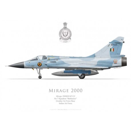 """Mirage 2000EH, No 7 Squadron """"Battleaxes"""", Gwalior AFB, Indian Air Force"""