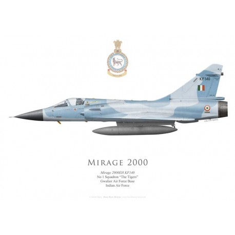 "Mirage 2000EH, No 1 Squadron ""The Tigers"", Gwalior AFB, Indian Air Force"