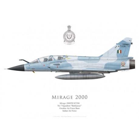 """Mirage 2000TH, No 7 Squadron """"Battleaxes"""", Gwalior AFB, Armée de l'air indienne"""
