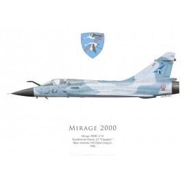 "Mirage 2000C No 14, EC 1/2 ""Cigognes"", BA 102 Dijon-Longvic, 1986"