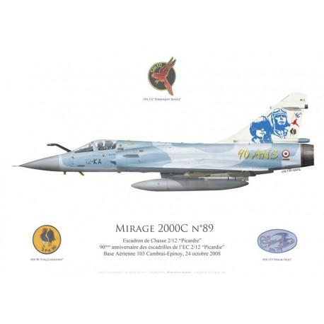 """Mirage 2000C n°89, 90 ans des escadrilles de l'EC 1/12 """"Cambrésis"""", 2008"""