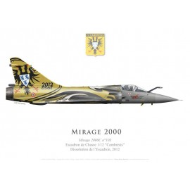 "Mirage 2000C No 103, Special scheme for the deactivation of EC 1/12 ""Cambrésis"", BA 103 Cambrai-Epinoy, 2012"