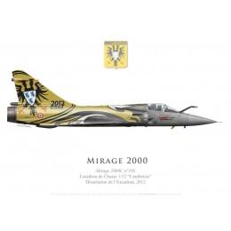 """Mirage 2000C n°103, Décoration pour la dissolution de l'EC 1/12 """"Cambrésis"""", BA 103 Cambrai-Epinoy, 2012"""