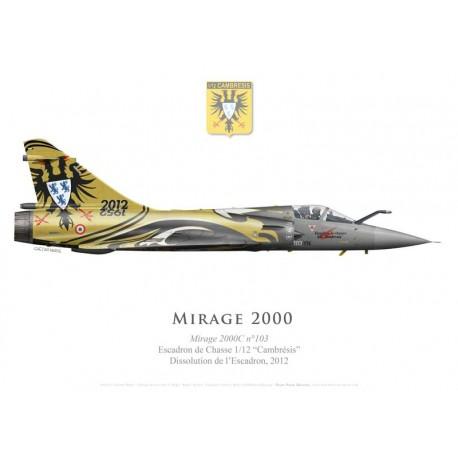 """Mirage 2000C No 103, Special scheme for the deactivation of EC 1/12 """"Cambrésis"""", BA 103 Cambrai-Epinoy, 2012"""