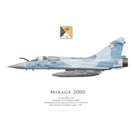 "Mirage 2000C n°34, Cdt Abrial, Commandant de l'EC 1/2 ""Cigognes"", BA 102 Dijon-Longvic, 1987"