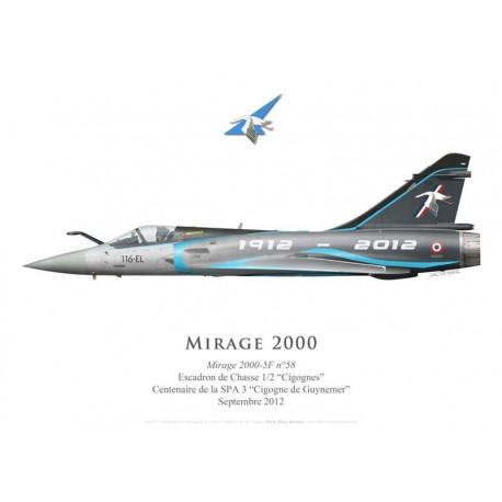 "Mirage 2000-5F n°58, centenaire de la SPA 3, septembre 2012, EC 1/2 ""Cigognes"""