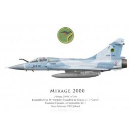 """Mirage 2000C n°104, EC 3/11 """"Corse"""", Base Aérienne 188 Djibouti, 2011"""