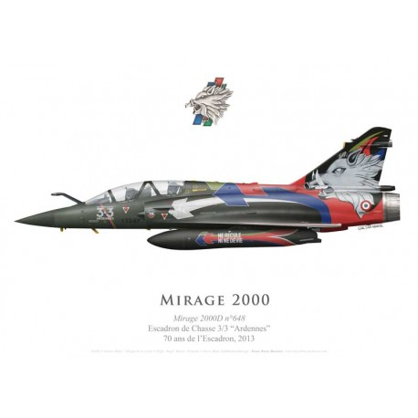 "Mirage 2000D, 70th anniversary of EC 3/3 ""Ardennes"", 2013"