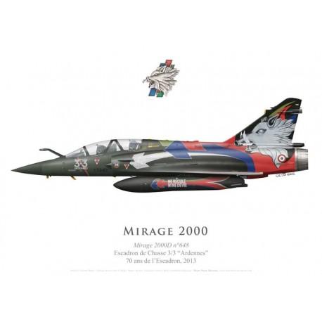 """Mirage 2000D, Décoration 70 ans de l'EC 3/3 """"Ardennes"""", 2013"""