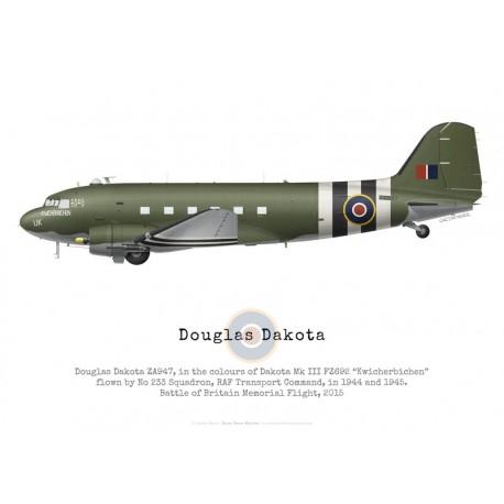 """Douglas Dakota ZA947 """"Kwicherbichen"""", RAF Battle of Britain Memorial Flight"""