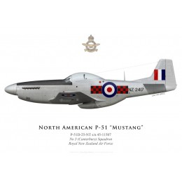 North American P-51D Mustang, NZ2417, No 3 (Canterbury) Squadron, Royal New Zealand Air Force