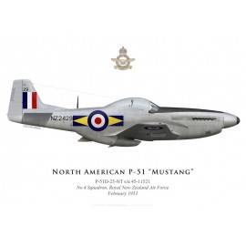 P-51D Mustang, NZ2429, No 4 Squadron, Royal New Zealand Air Force