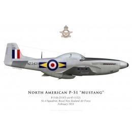 North American P-51D Mustang, NZ2429, No 4 Squadron, Royal New Zealand Air Force