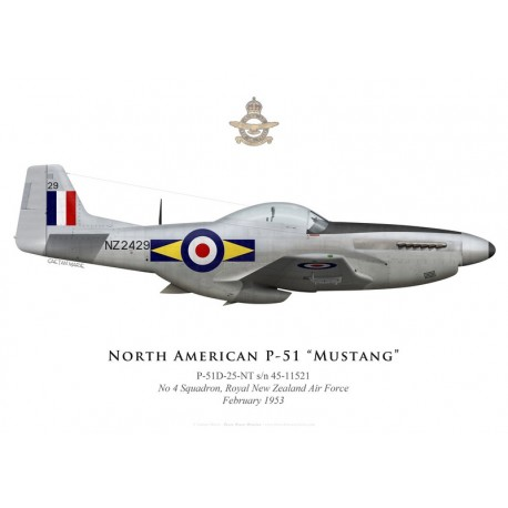 North American P-51D Mustang, NZ2429, No 4 Squadron, Royal New Zealand Air Force