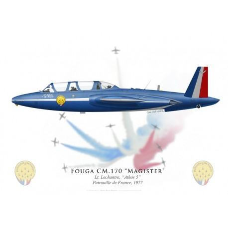 Fouga CM.170 Magister, Athos 5, Patrouille de France 1977
