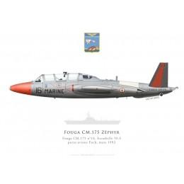 Fouga Zéphyr n°16, Escadrille 59.S, PA Foch, 1992