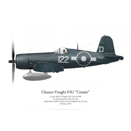 Chance-Vought Corsair Mk IV, No 1846 Naval Air Squadron, HMS Colossus, 1945